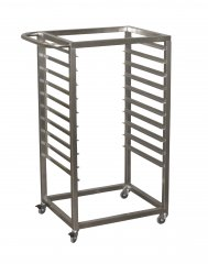 A trolley for trays